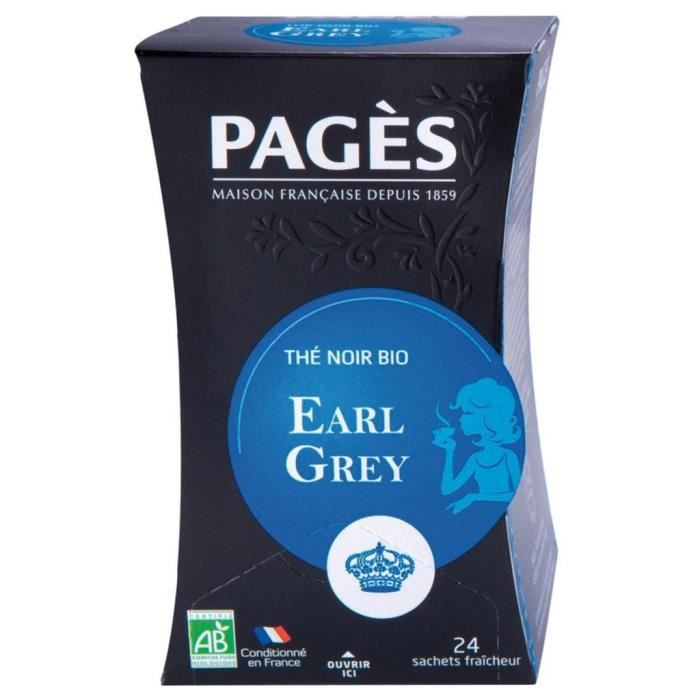 Pages Thé Noir Earl Grey Bio 20 sachets (lot de 3)