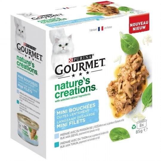 GOURMET Nature's Creation Multipack pour Chat - 8X85g