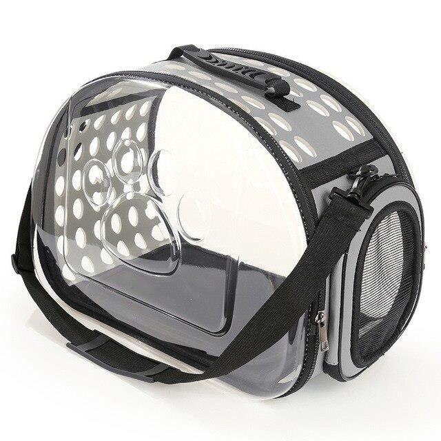 Gris 42x28x32cm Sacs De Transporteur De Chat De Chien De Compagnie Respirants Sac à Dos De Chat Voyage Espace Capsule Cage Portable