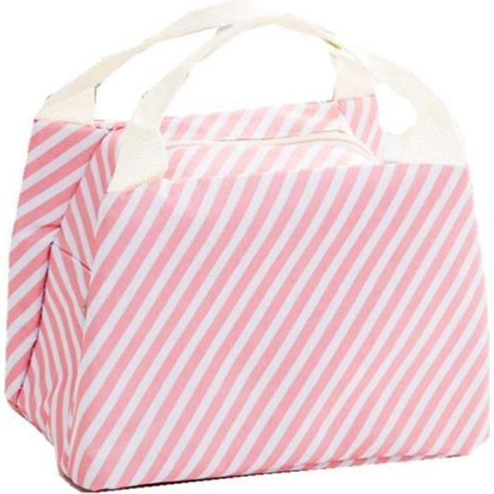 Freessom Sac Isotherme Repas Sac à Déjeuner Femme Enfant Fille Garcon Motif Sillon Kawaii Mignon Bag Emporter Portable C