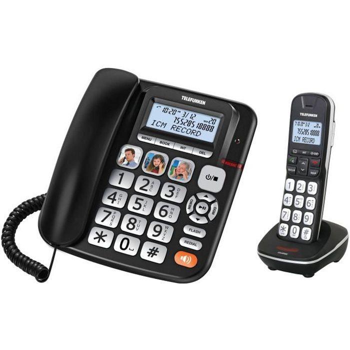 TELEFUNKEN Combo Téléphone fixe