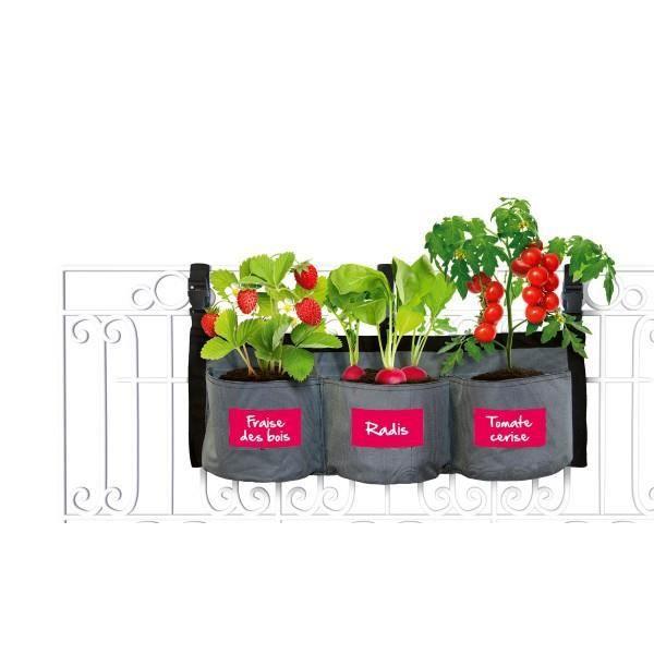 KITCHEN GARDENING Pot de fleurs en tissu - Jardin suspendu potager