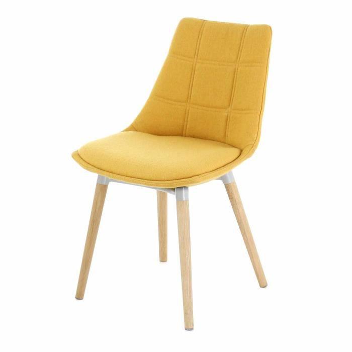 piétement design moutarde avec Chaise chêne Joy jaune H29IWDE