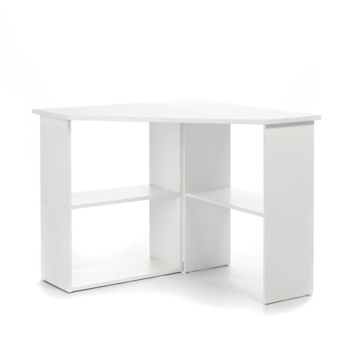 pony bureau d 39 angle blanc achat vente bureau pony bureau d 39 angle blanc cdiscount. Black Bedroom Furniture Sets. Home Design Ideas