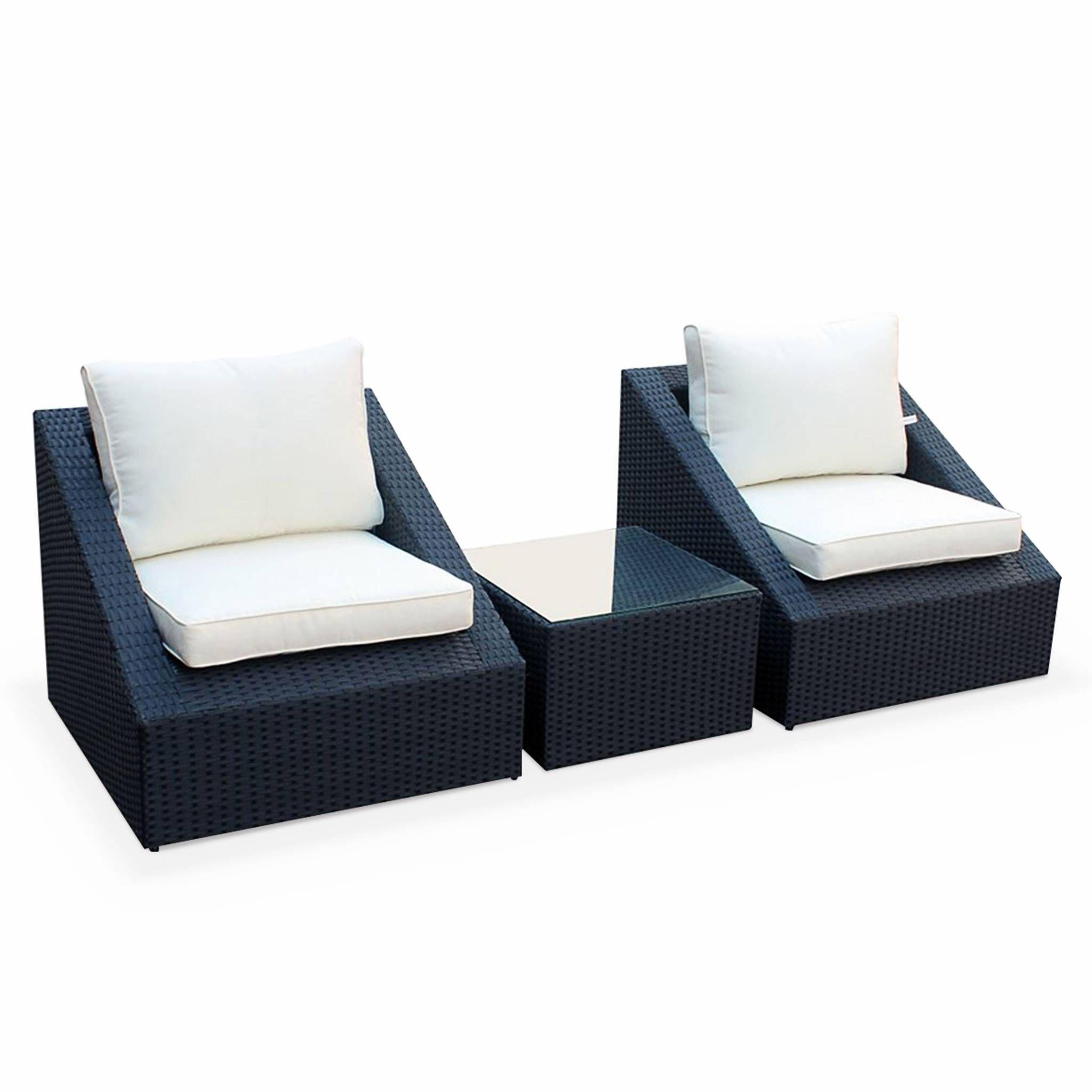 Colorisnoir de jardin fauteuils1 table Résine GARDEN tressée 2 Salon ALICE'S basse Empilables WE9eD2HIY