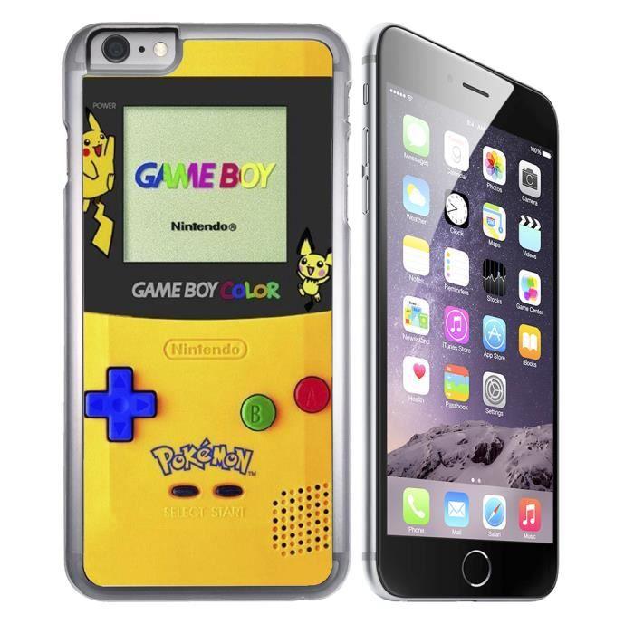 coque iphone 8 plus game boy color pokemon jaune