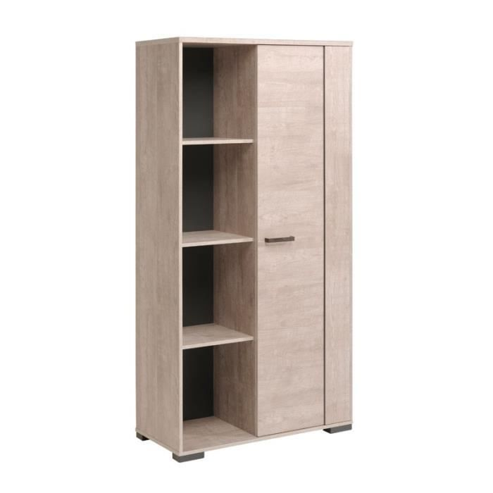 armoire de salon 1 porte ch ne d lav barker l 90 x l 40 x h 181 cm achat vente vitrine. Black Bedroom Furniture Sets. Home Design Ideas