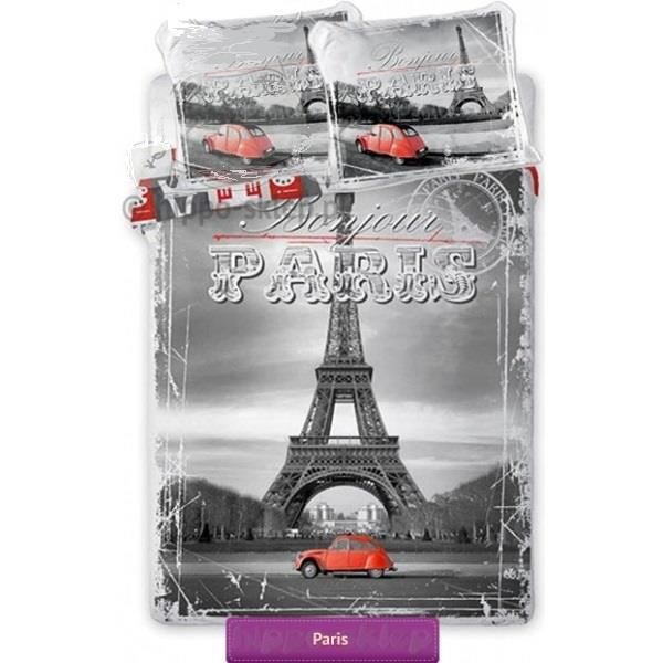 parure de lit de la tour eiffel paris 160 x 200 achat. Black Bedroom Furniture Sets. Home Design Ideas