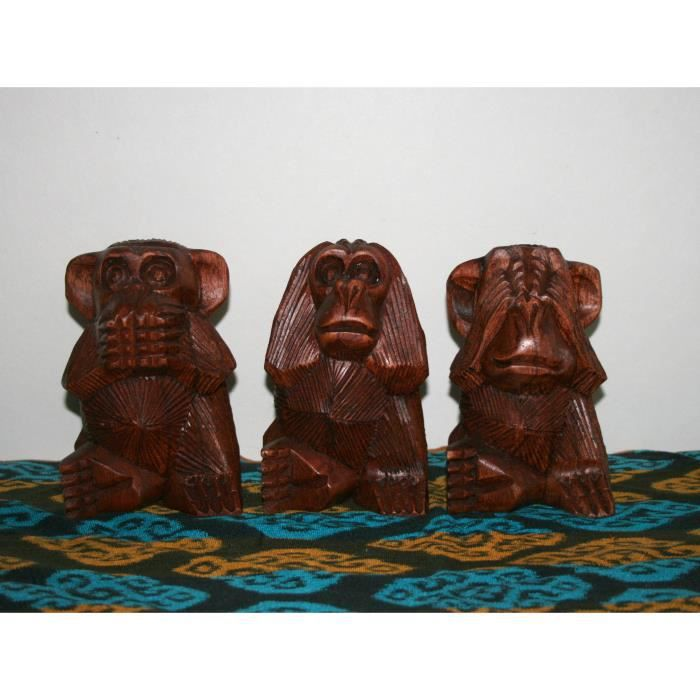 les 3 singes de la sagesse achat vente statue. Black Bedroom Furniture Sets. Home Design Ideas