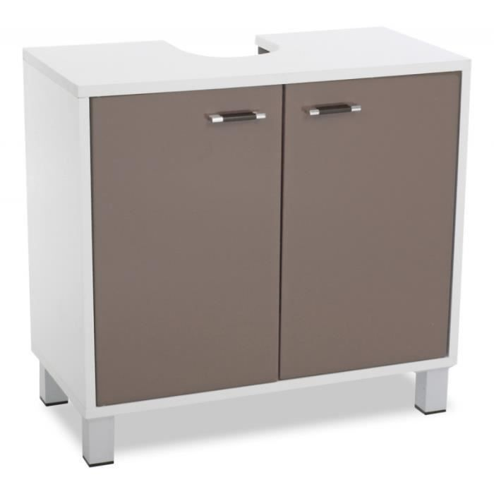 meuble dessous de lavabo taupe rangement sall achat vente meuble vasque plan meuble. Black Bedroom Furniture Sets. Home Design Ideas