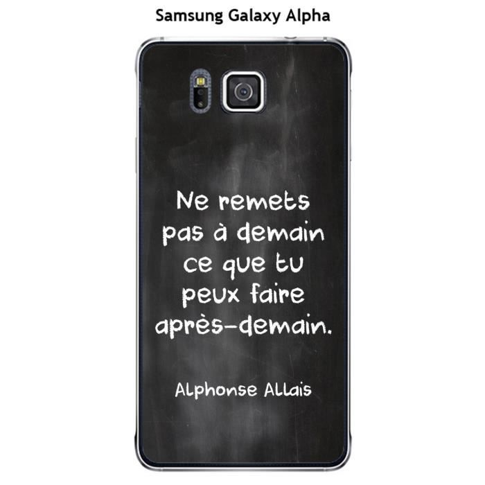 coque samsung galaxy alpha citation tableau 14 achat. Black Bedroom Furniture Sets. Home Design Ideas