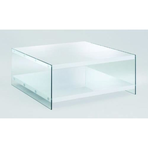Table basse verre 90x90 for Table 90x90 conforama