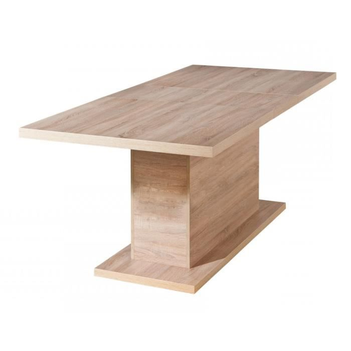 Table de salle manger modulable coloris sonoma ch ne for Table salle a manger modulable