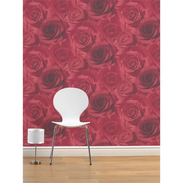 muriva madison papier peint motif rose rouge achat vente papier peint muriva madison papier. Black Bedroom Furniture Sets. Home Design Ideas
