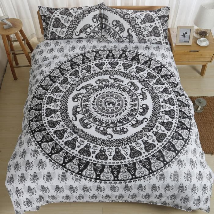 housse de couette mandala achat vente housse de. Black Bedroom Furniture Sets. Home Design Ideas