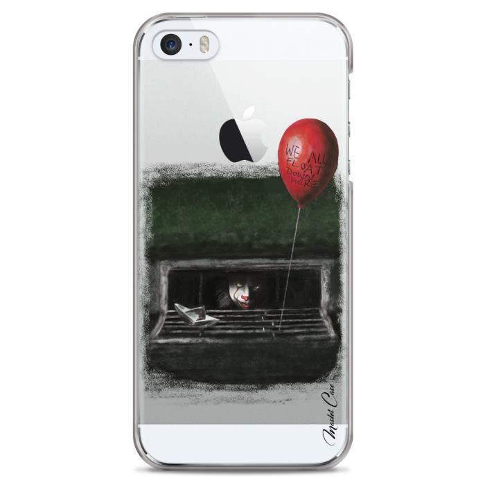 coque iphone 5 5s se transparente motif le clown