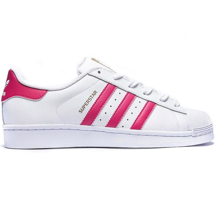 ADIDAS ORIGINALS Baskets Superstar - Femme - Blanc et Rose