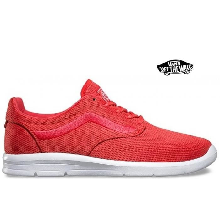 chaussures vans rouge femme