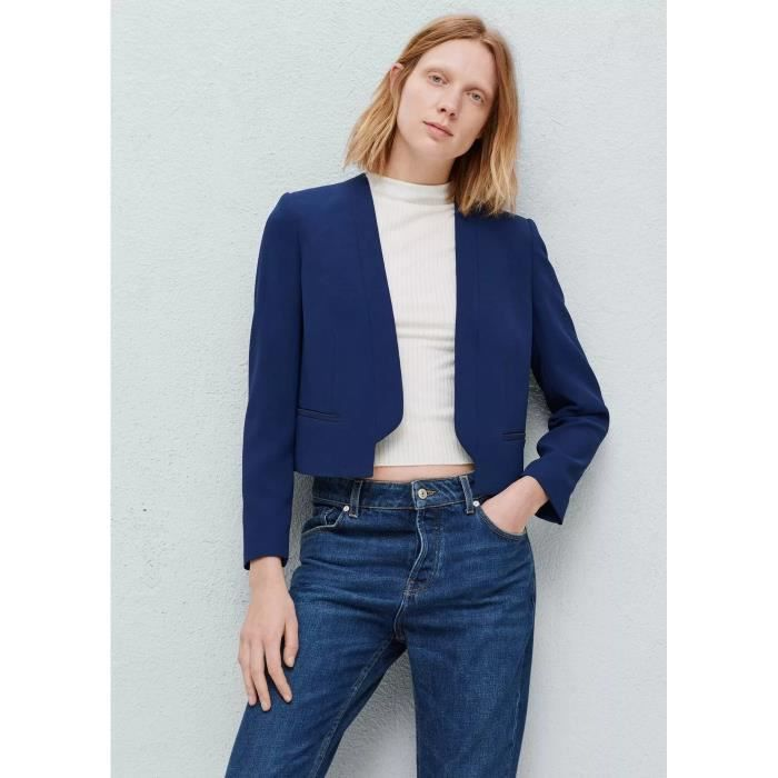 blazer femme court asym trique choies bleu noir bleu achat vente veste cdiscount. Black Bedroom Furniture Sets. Home Design Ideas