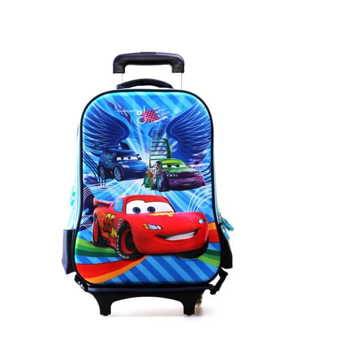 qumao sac dos roulettes scolaire 3d cars cartable ecole primaire achat vente cartable. Black Bedroom Furniture Sets. Home Design Ideas