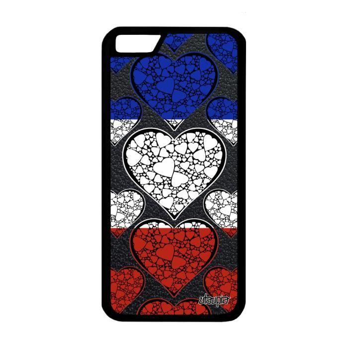 Coque iPhone 6 6S silicone drapeau france français