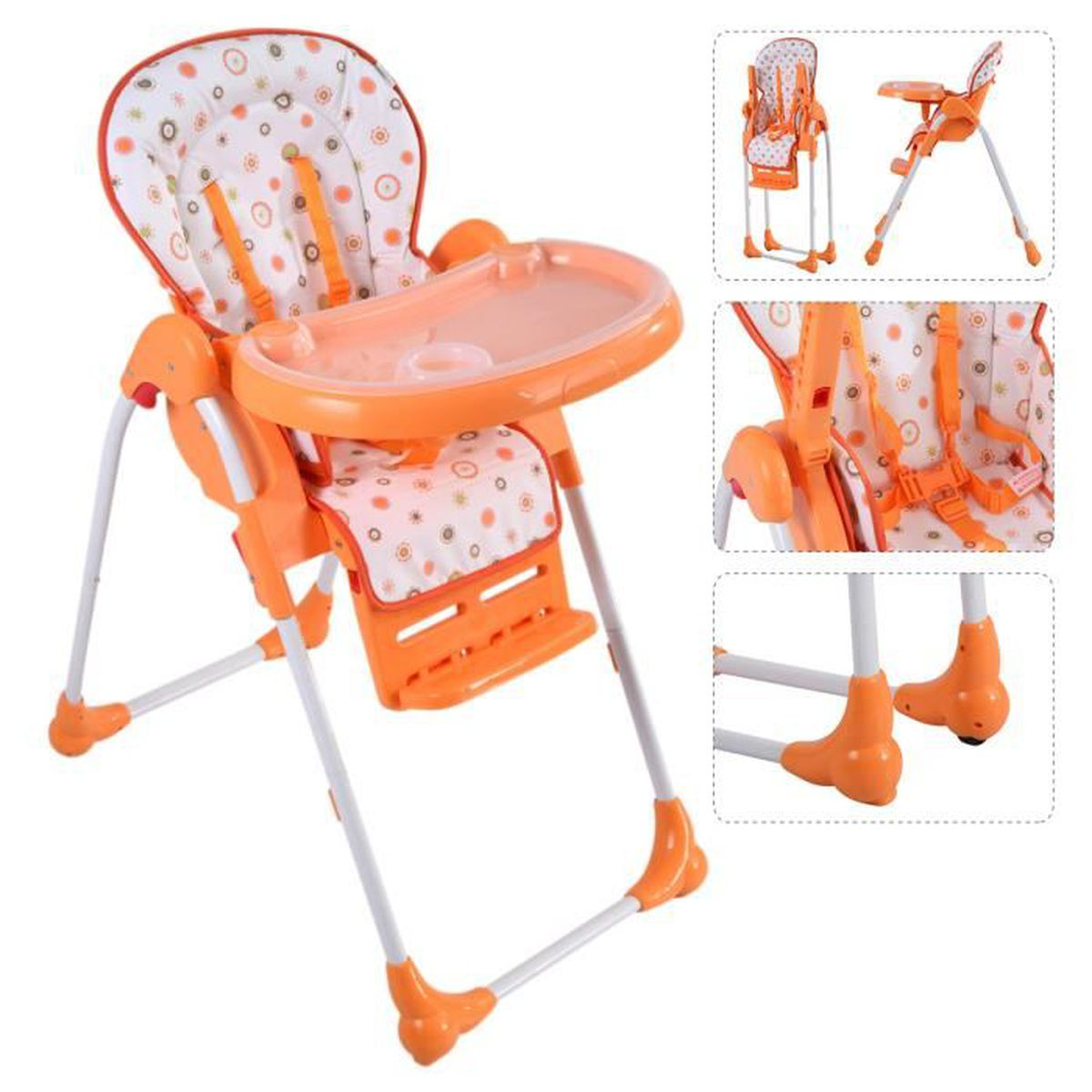 Chaise haute de b b pour enfants r glable pliable grand for Chaise bebe 9