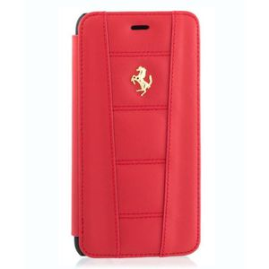 Ferrari étui Folio cuir rouge pour APPLE IPHONE 6+/6S+