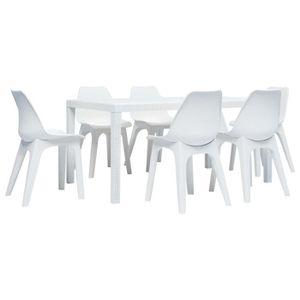 Ensemble table et chaise de jardin Festnight Ensemble Salle à Manger d'Extérieur en p