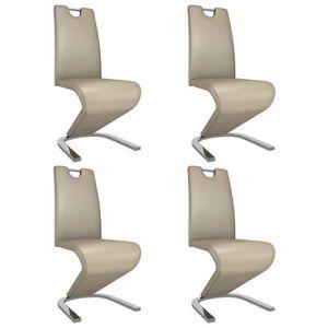 CHAISE LIUX Chaises à dîner avec forme de zigzag 4pcs Cap