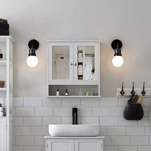 MIROIR SALLE DE BAIN Placard de salle de bain à miroir meuble de rangem