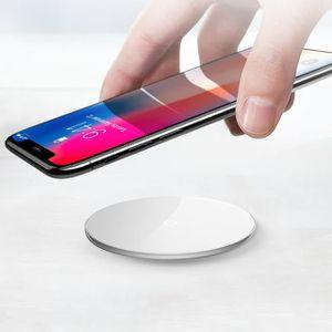 CHARGEUR TÉLÉPHONE Qi Chargeur Sans Fil Transparent Verre De Recharge