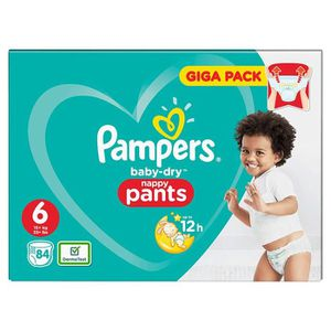 COUCHE Pampers Baby-Dry Pants Taille 6 Couches avec canau