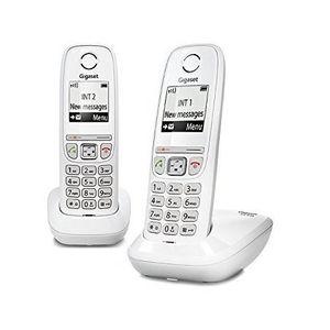 Téléphone fixe Gigaset AS470 Duo Blanc - Téléphone DECT - Pack Du