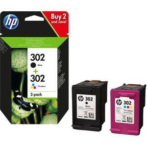 CARTOUCHE IMPRIMANTE HP 302 pack de 2 cartouches d'encre d'origine noir