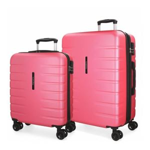 SET DE VALISES Lot de 2 valises rigides 55-69 Movom Turbo rose -5