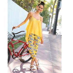 LEGGING Legging corsaire imprimé ananas femme Venca