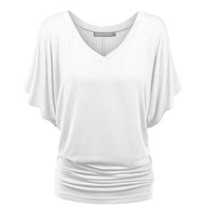 Femme Femme Crâne Visage chauve-souris Manches Lagenlook Baggy Surdimensionné T Shirt Top