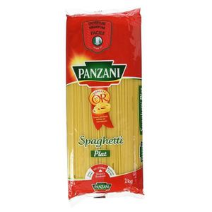 PÂTES ALIMENTAIRES Panzani Spaghetti Plat 1Kg