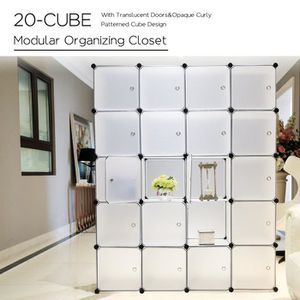 ARMOIRE DE CHAMBRE 20 Cubes Armoire de Chambre avec porte Meuble de R