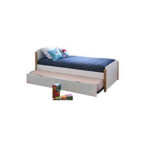 LIT GIGOGNE Pack lit enfant gigogne avec sommier et matelas Ka
