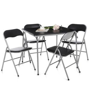 TABLE A MANGER COMPLET IKAYAA 5PCS Set Table Chaise pliant pliable multif