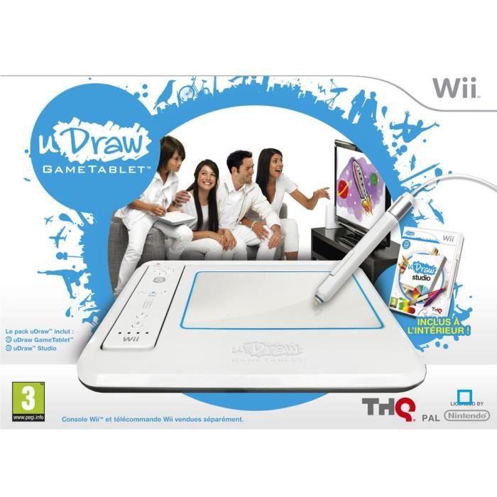 TABLETTE UDRAW + UDRAW STUDIO / Jeu console Wii