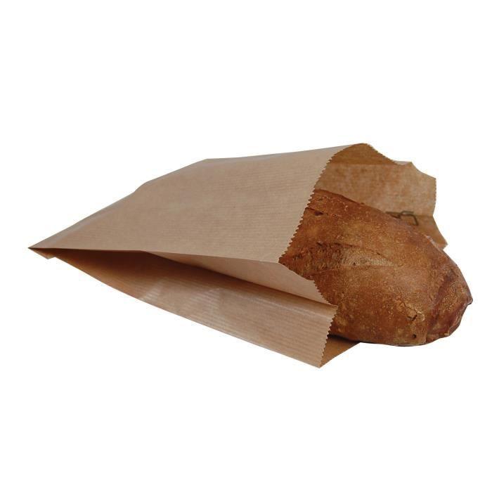 Sacs papier kraft sans Impression 3 kg / 23 + 8 x 34 cm X1000 UV