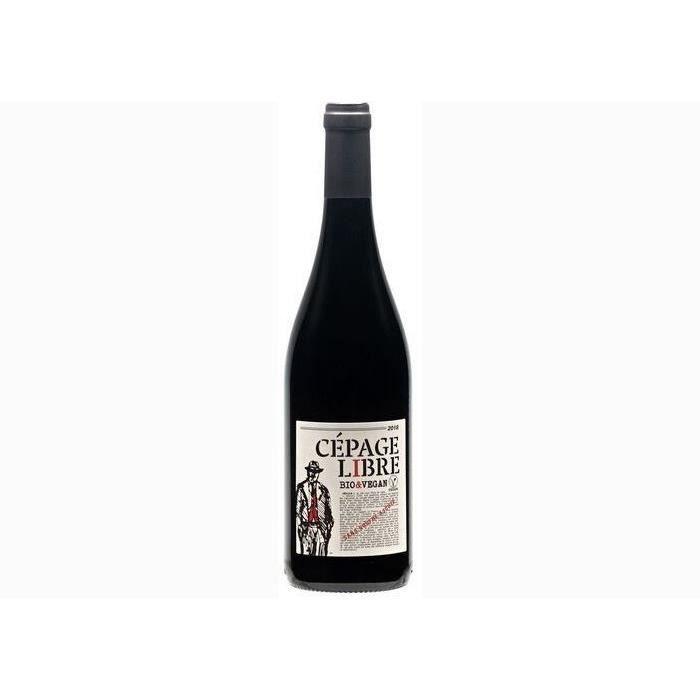 6 bouteilles - Vin rouge - Tranquille - CEPAGE LIBRE BIO SANS SOUFRE AJOUTÉ Méditerranée Rouge 2019 6x75cl