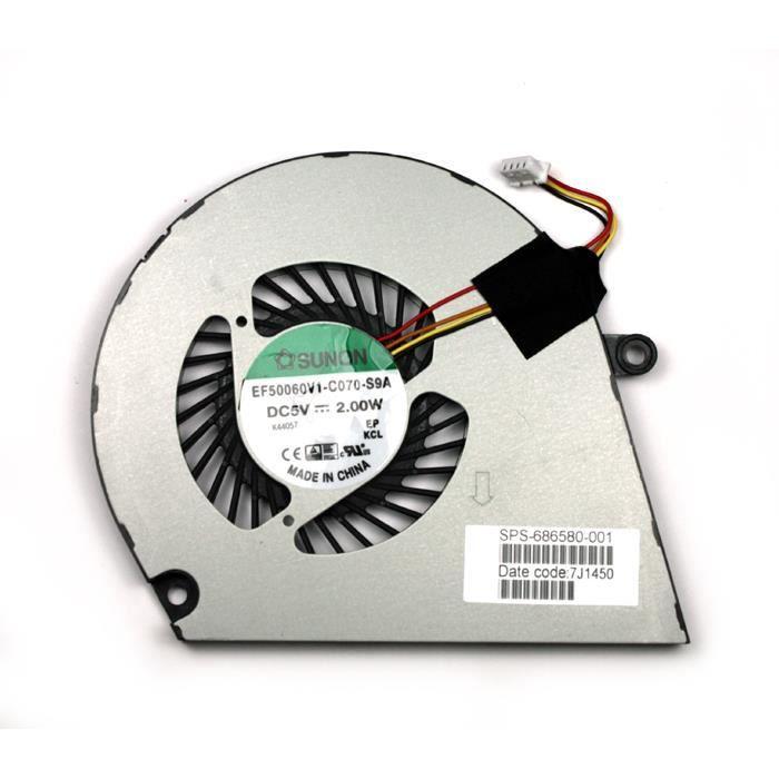 HP Envy 6-1151SF Ventilateur pour ordinateurs portables