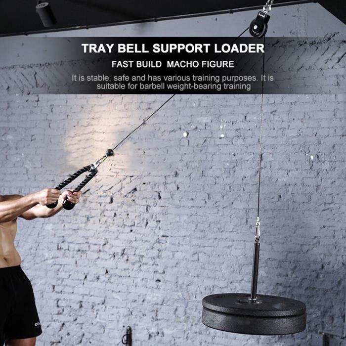 Entraînement à la maison poids chargement broche Barbell exercice Fitness système de câble de poulie de gymnas JS10129