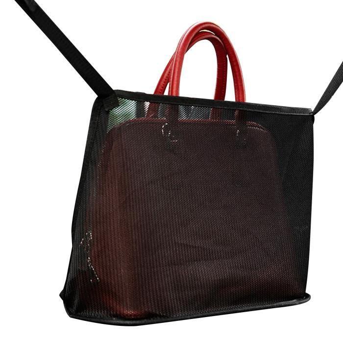 Accessoires auto intérieurs,Filet de rangement pour voiture poche siège de voiture côté stockage maille filet sac - Type Black