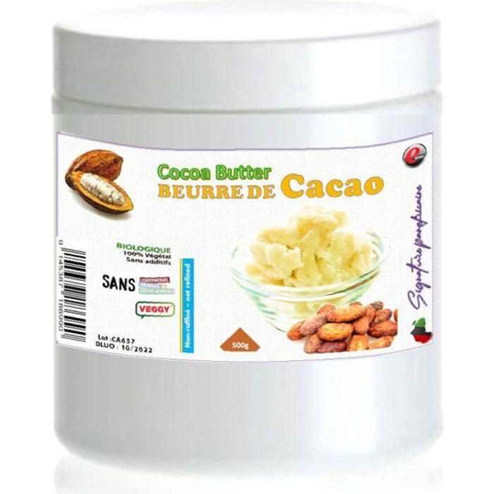 Beurre de cacao - non raffiné - 100 % pur et naturel - signature panafricaine - 500g