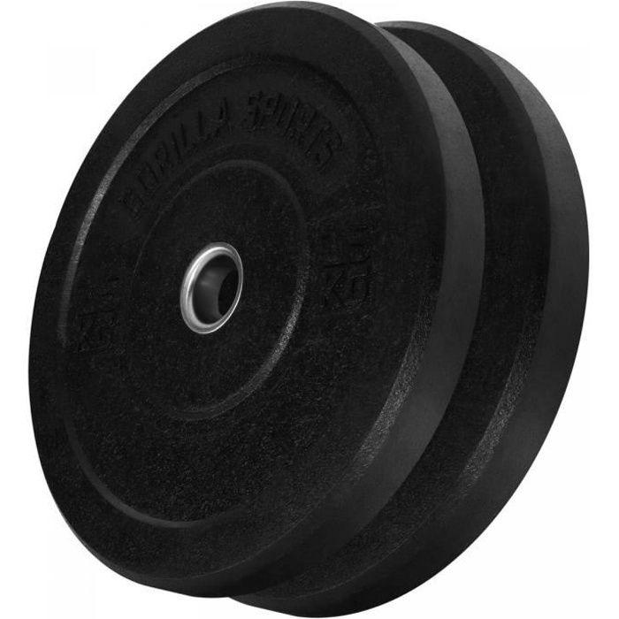 Paire de poids olympique Hi Temp de 15 kg - Avec absorbeur de chocs