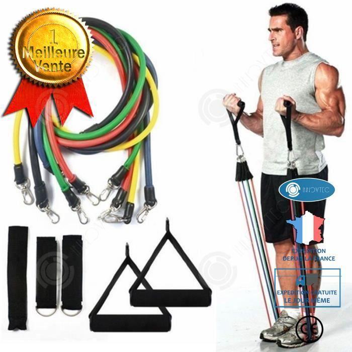 INN® élastiques fitness homme femme musculation 11pcs yoga gymnastique bande de résistance musculation fessiers jambe poignées